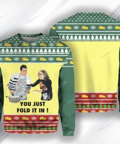 You just fold it in schitts creek ugly christmas sweater 1 - Copy (2)