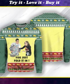 You just fold it in schitts creek ugly christmas sweater